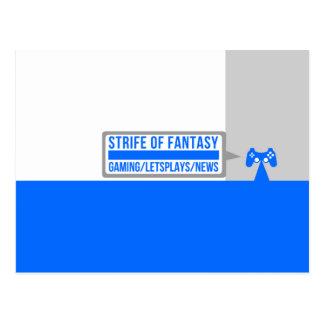 Strife full logo postcard