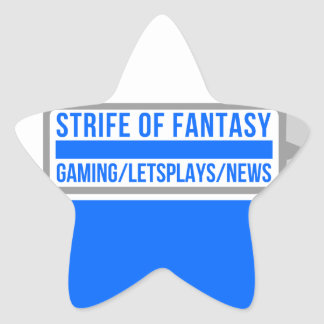 Strife full logo star sticker