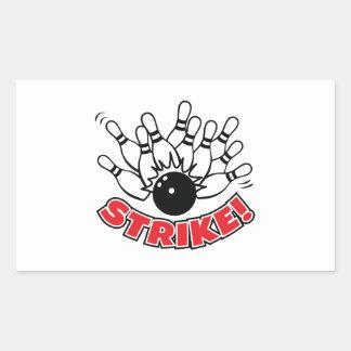 Strike - 10-Pin Bowling Rectangular Sticker