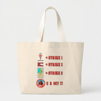 Strike 3 - U R OUT!!! Jumbo Tote Bag