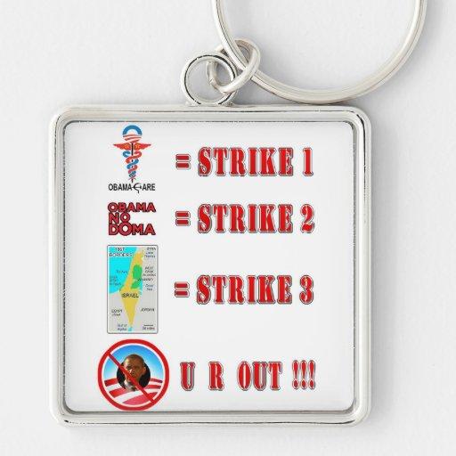 Strike 3 - U R OUT!!! Key Chain