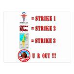 Strike 3 - U R OUT!!! Postcard