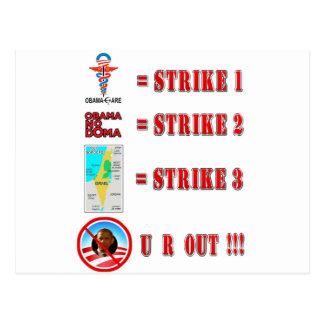 Strike 3 - U R OUT!!! Post Cards