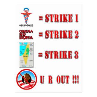 Strike 3 - U R OUT!!! Post Card