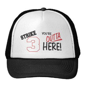 strike 3-Youre Outta Here Trucker Hat