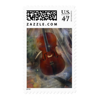 Strike a Chord with this Beautiful Musical Design Postage Stamp