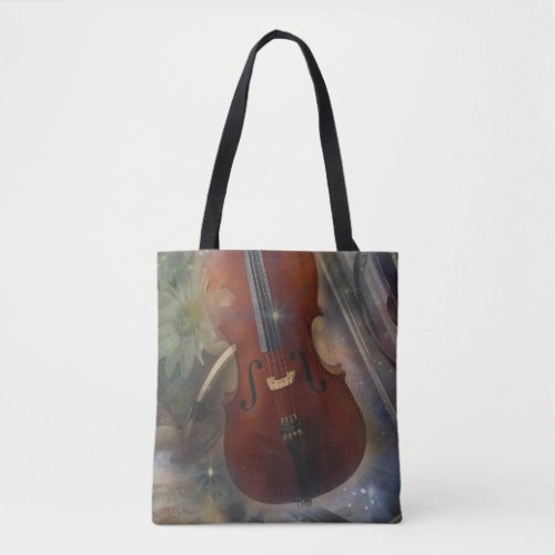 Strike a Chord with this Beautiful Cello Musical Design Budget Tote Bag