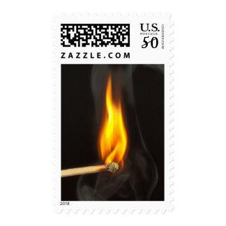 Strike a Match Smoke Flame Ignite Stamp