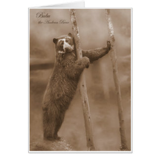Strike a Pose - Bubu, sepia notecard