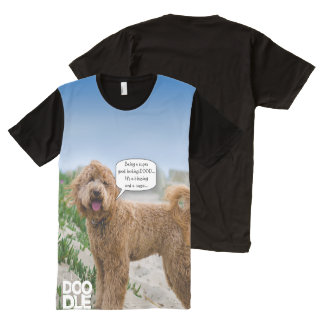 Strike a pose DOOD! (with talk bubble) All-Over Print T-shirt