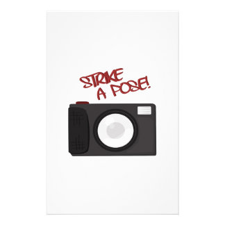 Strike A Pose Personalized Stationery