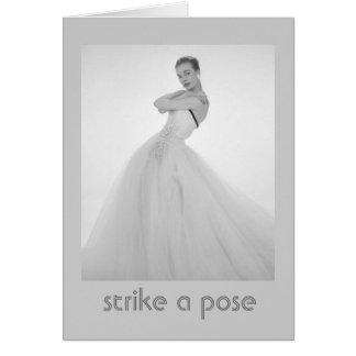 Strike a Pose Vintage Birthday Card
