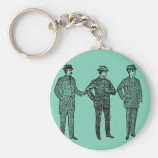 """Strike a Pose"" vintage dapper gents keyring Basic Round Button Keychain"