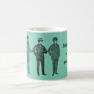 """""""Strike a Pose"""" vintage dapper gents mug"""