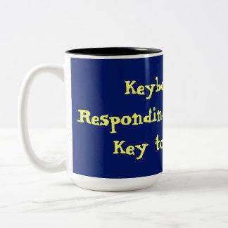 Strike Any Key Error Code Two-Tone Coffee Mug