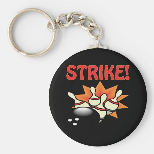 Strike Basic Round Button Keychain