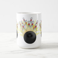 STRIKE! Bowling Ball And Pins Coffee Mug