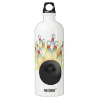 STRIKE! Bowling Ball And Pins SIGG Traveler 1.0L Water Bottle