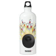 STRIKE! Bowling Ball And Pins SIGG Traveler 1.0L Water Bottle