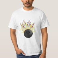 STRIKE! Bowling Ball And Pins T-Shirt