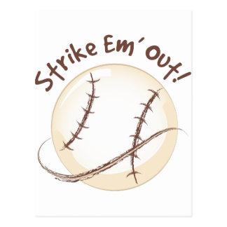 Strike Em Out Postcard