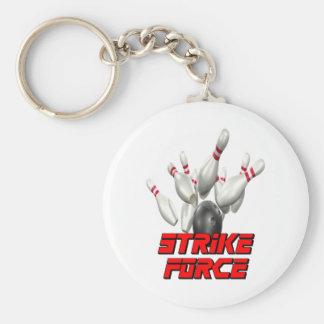 Strike Force Basic Round Button Keychain