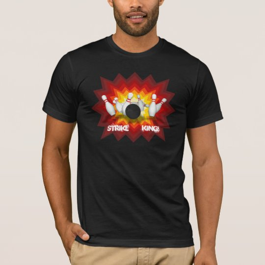 Strike King: Bowling Pins T-Shirt: Black T-Shirt