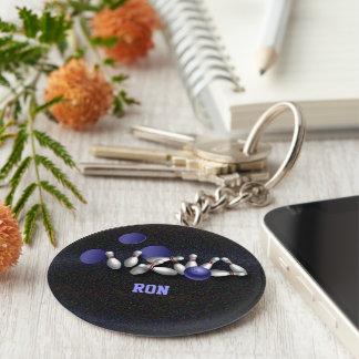 Strike maker basic round button keychain