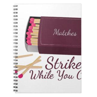 Strike Match Notebook