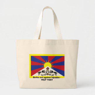 Strike out against injustice - HELP TIBET Tote Bags