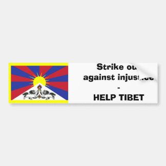 Strike out against injustice -HELP TIBET Car Bumper Sticker