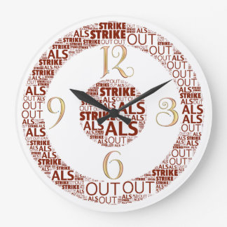 Strike Out ALS  Round (Large) Clock