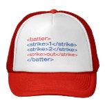 <strike out/> cap trucker hat