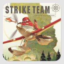 Strike Team Illustration Square Sticker