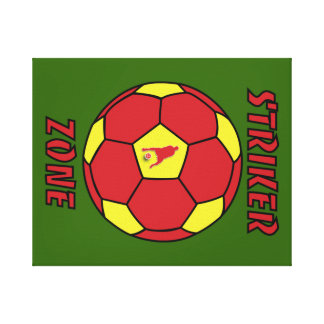 Striker Zone by J-Mo-Net-Red Gold Stretched Canvas Prints