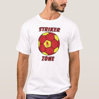 Striker Zone by J-Mo-Net-Red/Gold T-Shirt