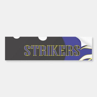 Strikers Blue Bumper Sticker