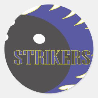 Strikers Blue Classic Round Sticker