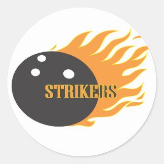 Strikers Orange Classic Round Sticker