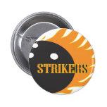Strikers Orange Pinback Button