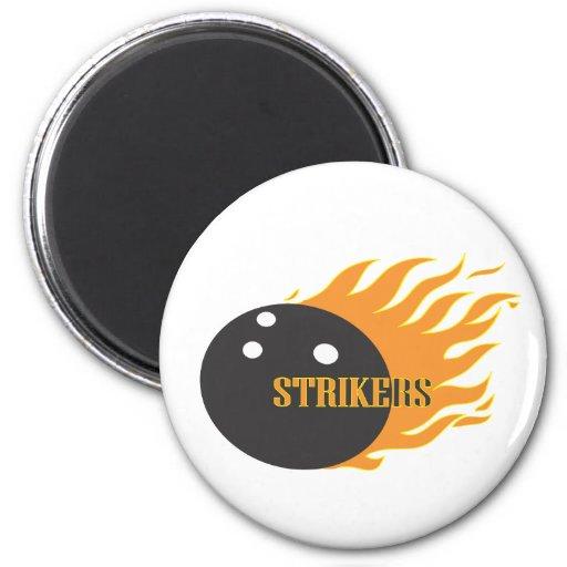 Strikers Orange Refrigerator Magnet