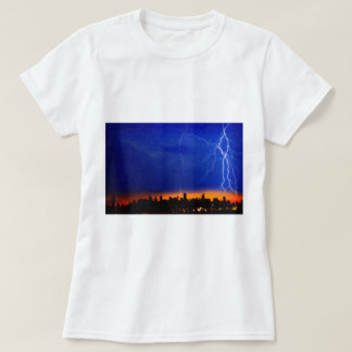 strikes and thunders bolts over big apple 2 T-Shirt