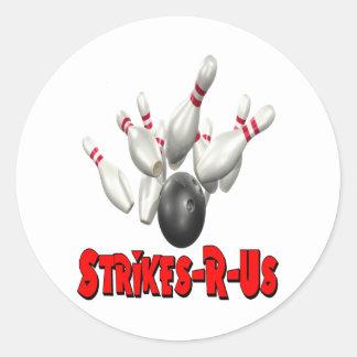 Strikes-R-Us Classic Round Sticker
