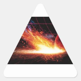 Striking A Match Triangle Sticker