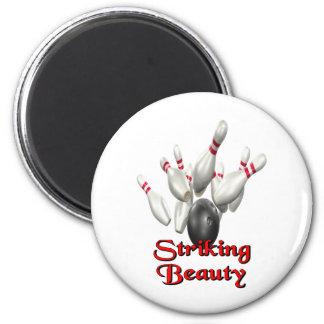 Striking Beauty Bowling Magnets