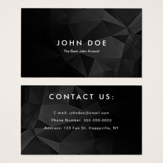 Striking Black Polygon Business Card