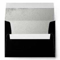 Striking Black Silver-Lined Envelope
