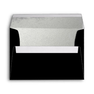 Striking Black Silver-Lined Envelope