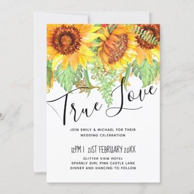 Striking Black with Sunflowers Wedding Budget
