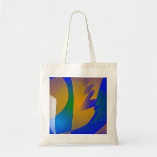 Striking Blue Abstract Art Bag